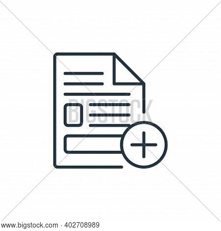 create icon isolated on white background. create icon thin line outline linear create symbol for log