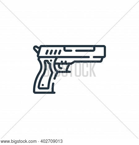 pistol icon isolated on white background. pistol icon thin line outline linear pistol symbol for log