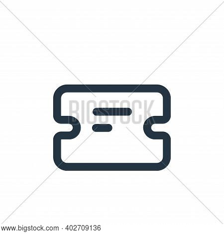 ticket icon isolated on white background. ticket icon thin line outline linear ticket symbol for log