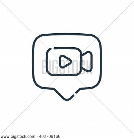 video chat icon isolated on white background. video chat icon thin line outline linear video chat sy