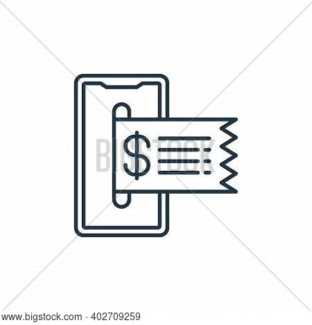 online payment icon isolated on white background. online payment icon thin line outline linear onlin