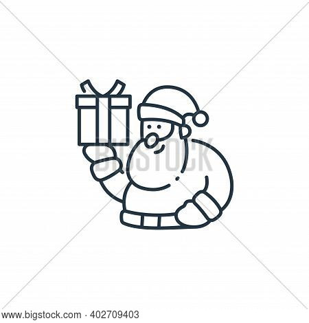 santa claus icon isolated on white background. santa claus icon thin line outline linear santa claus