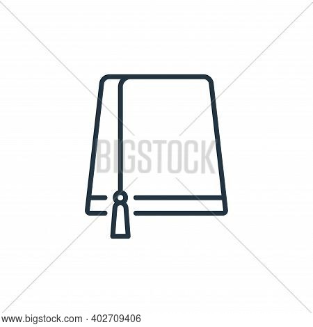 hat icon isolated on white background. hat icon thin line outline linear hat symbol for logo, web, a