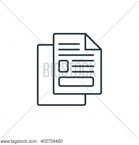 copy icon isolated on white background. copy icon thin line outline linear copy symbol for logo, web