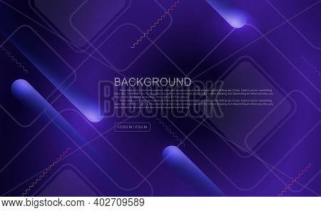 Dark Blue Geometric Background, Oblique Stripes With A Gradient, Light Square Frames