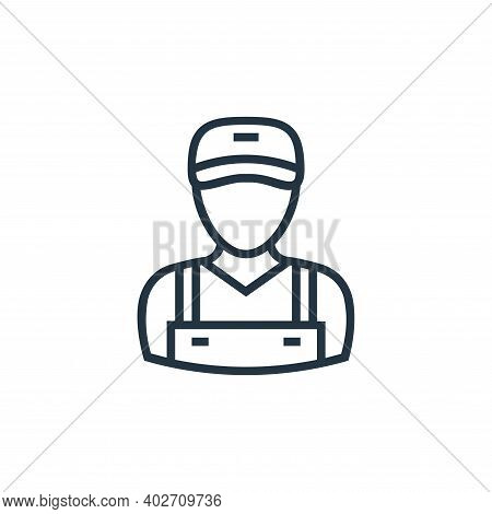 delivery man icon isolated on white background. delivery man icon thin line outline linear delivery