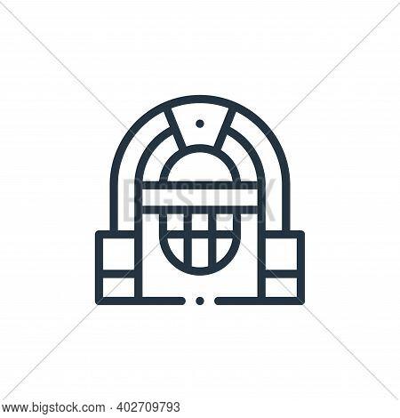 jukebox icon isolated on white background. jukebox icon thin line outline linear jukebox symbol for
