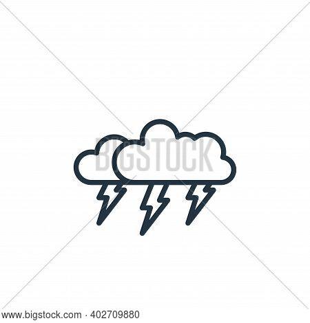 thunderstorm icon isolated on white background. thunderstorm icon thin line outline linear thunderst