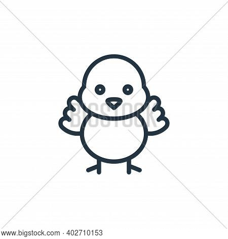 chick icon isolated on white background. chick icon thin line outline linear chick symbol for logo,