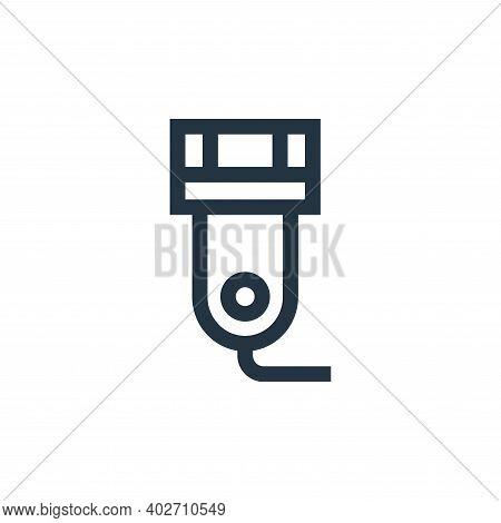 razor icon isolated on white background. razor icon thin line outline linear razor symbol for logo,