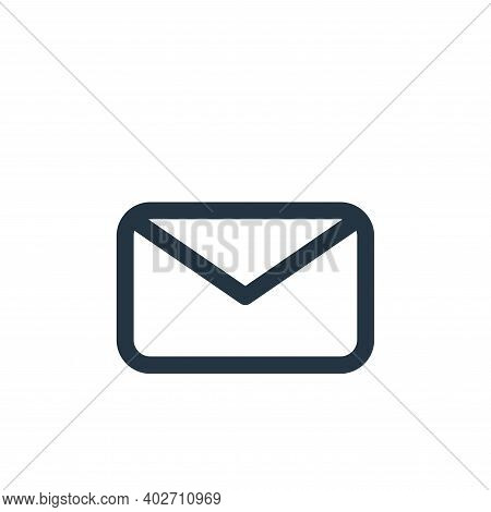 message icon isolated on white background. message icon thin line outline linear message symbol for