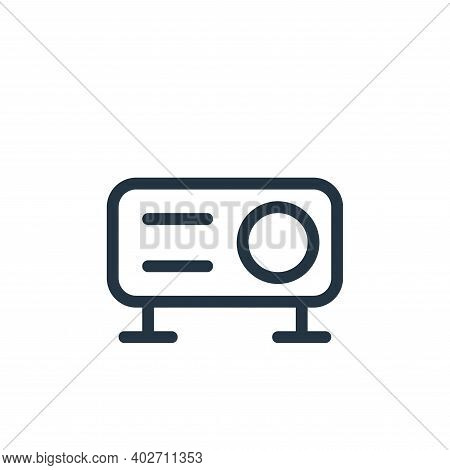 projector icon isolated on white background. projector icon thin line outline linear projector symbo