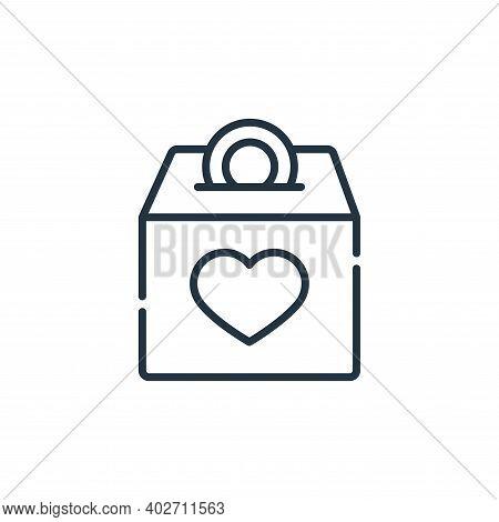 money box icon isolated on white background. money box icon thin line outline linear money box symbo