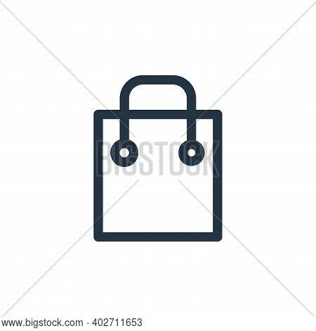 shopping icon isolated on white background. shopping icon thin line outline linear shopping symbol f