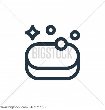 soap icon isolated on white background. soap icon thin line outline linear soap symbol for logo, web