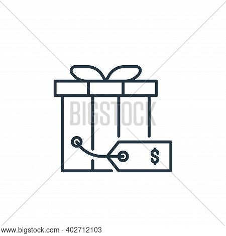 gift icon isolated on white background. gift icon thin line outline linear gift symbol for logo, web