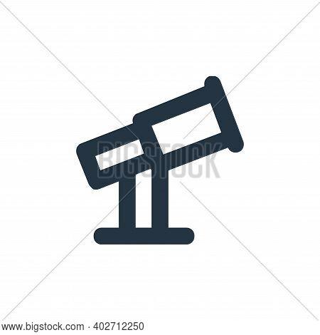 telescope icon isolated on white background. telescope icon thin line outline linear telescope symbo