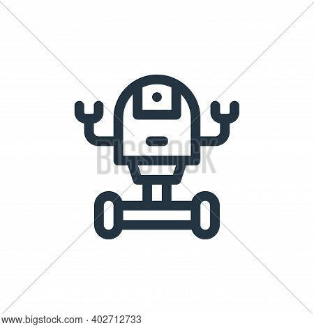 space robot icon isolated on white background. space robot icon thin line outline linear space robot
