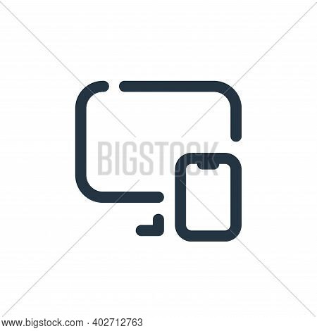 responsive icon isolated on white background. responsive icon thin line outline linear responsive sy