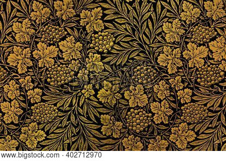 Vintage floral pattern background remix from artwork by William Morris