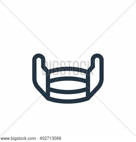 medical mask icon isolated on white background. medical mask icon thin line outline linear medical m