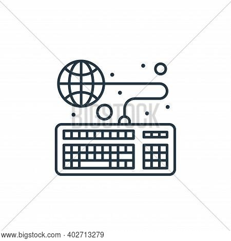 online education icon isolated on white background. online education icon thin line outline linear o
