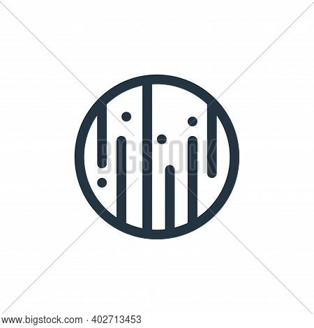uranus icon isolated on white background. uranus icon thin line outline linear uranus symbol for log