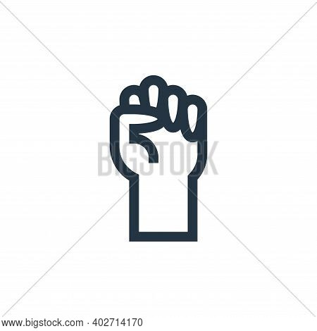 fist icon isolated on white background. fist icon thin line outline linear fist symbol for logo, web