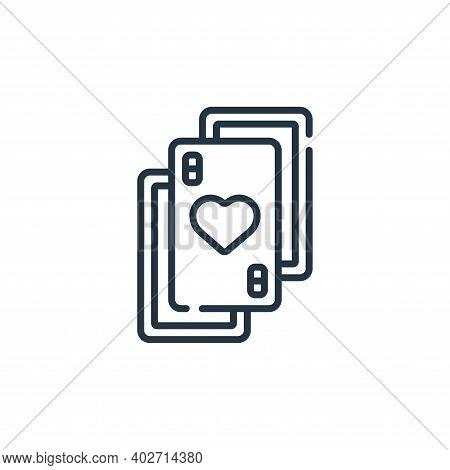 poker cards icon isolated on white background. poker cards icon thin line outline linear poker cards