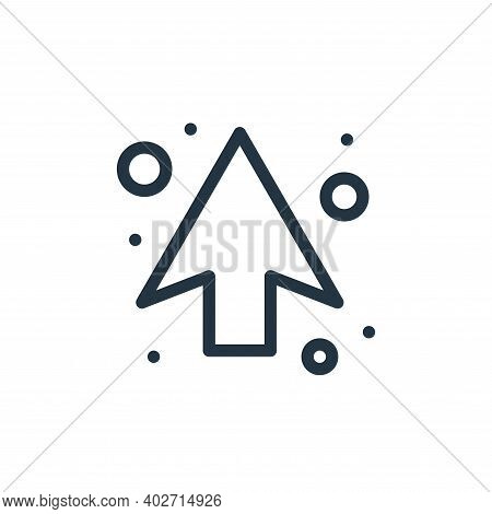up arrow icon isolated on white background. up arrow icon thin line outline linear up arrow symbol f