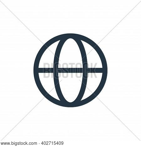 browser icon isolated on white background. browser icon thin line outline linear browser symbol for
