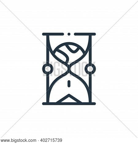 hourglass icon isolated on white background. hourglass icon thin line outline linear hourglass symbo