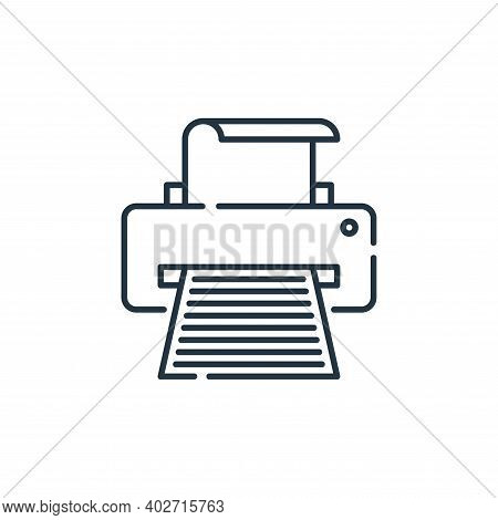printer icon isolated on white background. printer icon thin line outline linear printer symbol for