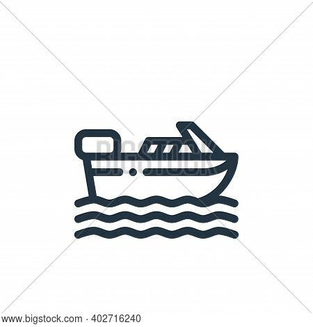 boat icon isolated on white background. boat icon thin line outline linear boat symbol for logo, web