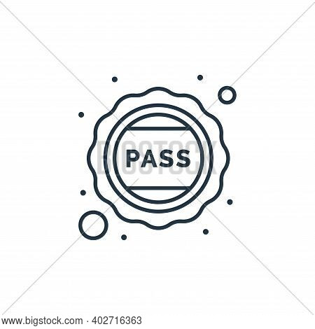 pass icon isolated on white background. pass icon thin line outline linear pass symbol for logo, web