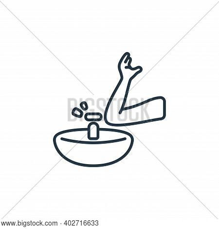 sink icon isolated on white background. sink icon thin line outline linear sink symbol for logo, web