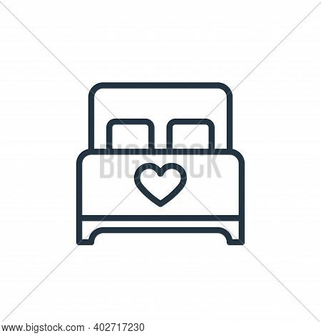 bed icon isolated on white background. bed icon thin line outline linear bed symbol for logo, web, a