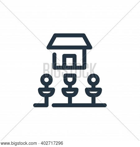 gardening icon isolated on white background. gardening icon thin line outline linear gardening symbo