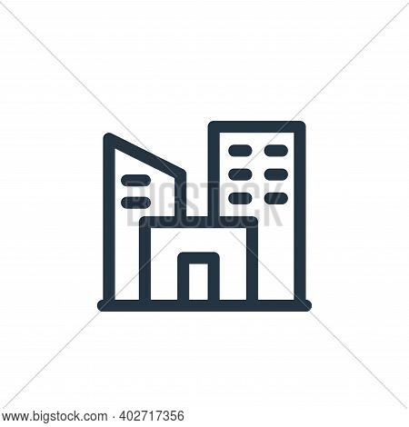 city icon isolated on white background. city icon thin line outline linear city symbol for logo, web