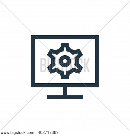 monitor icon isolated on white background. monitor icon thin line outline linear monitor symbol for