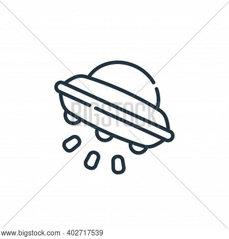 ufo icon isolated on white background. ufo icon thin line outline linear ufo symbol for logo, web, a