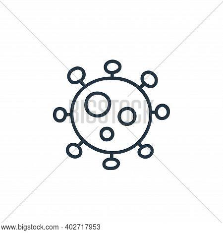 virus icon isolated on white background. virus icon thin line outline linear virus symbol for logo,