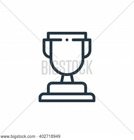 cup icon isolated on white background. cup icon thin line outline linear cup symbol for logo, web, a
