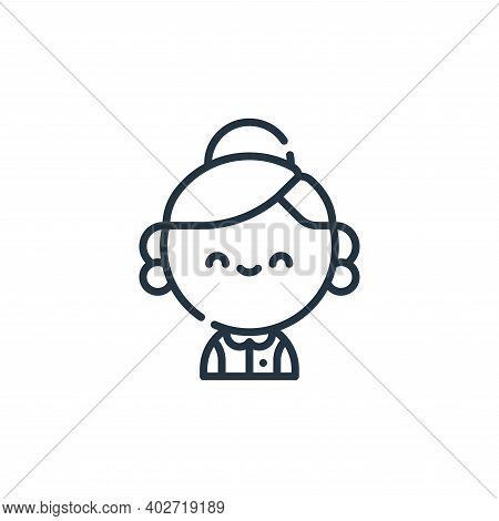 grandmother icon isolated on white background. grandmother icon thin line outline linear grandmother