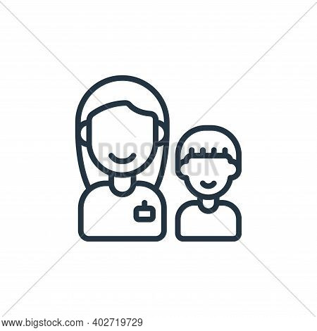 carer icon isolated on white background. carer icon thin line outline linear carer symbol for logo,