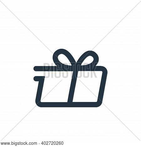 delivery icon isolated on white background. delivery icon thin line outline linear delivery symbol f