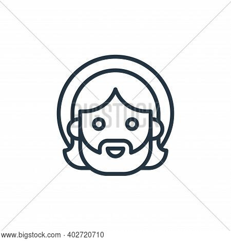 jesus icon isolated on white background. jesus icon thin line outline linear jesus symbol for logo,