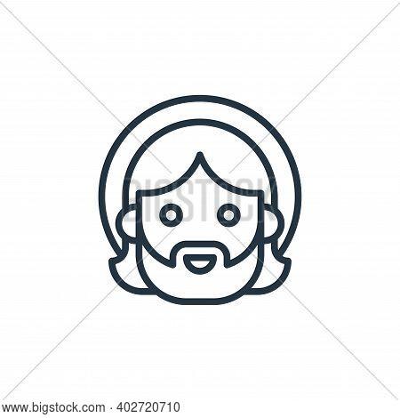 Jesus Vector Icon Isolated On White Background.