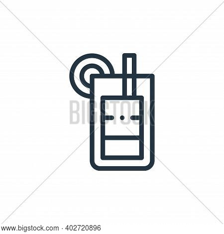 cocktail icon isolated on white background. cocktail icon thin line outline linear cocktail symbol f