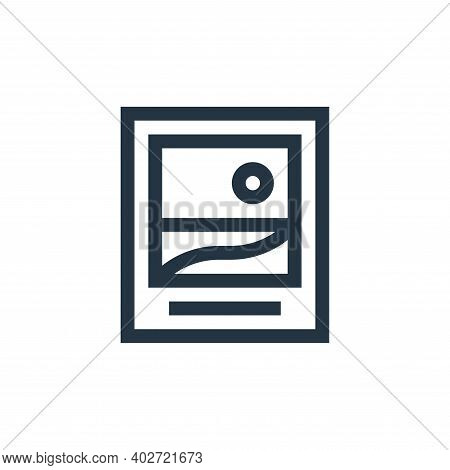 picture icon isolated on white background. picture icon thin line outline linear picture symbol for